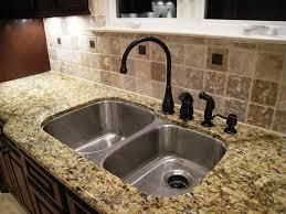kitchen sinks with granite countertops kitchen sink beautified with granite tile countertops