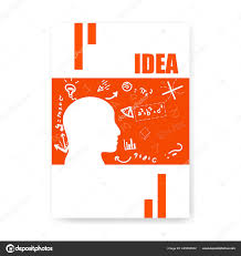 Maths Cover Design Cover Notebook Mind Thinking Flat Style Doodles Sketch Hand