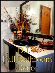 diy fall bathroom decor
