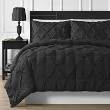 bedding for black furniture. 7pc comfy bedding durable stitching pinch pleat comforter and sheet set queen black for furniture r
