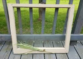 Wooden Window Frame Crafts Vintage Window Old Wood Window Frame Single 1 Pane Wood Window