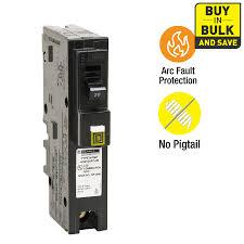 shop circuit breakers load centers fuses at lowes com square d homeline 20 amp 1 pole combination arc fault circuit breaker