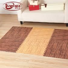 eva interlocking wood grain foam mat baby floor tiles