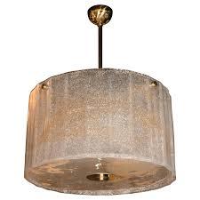drum shade chandelier gold flecked glass drum shade chandelier with brass fittings for drum shade