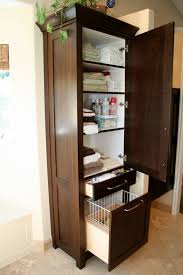 Bathroom Storage Cabinets Floor Bathroom Perfect Position Of Hamper In The Edge Of Bathroom