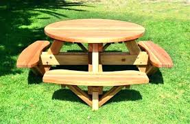 round wood picnic table picnic table round classic round wood picnic tables folding wooden picnic table