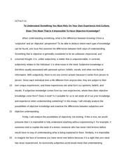 the truman show essay hztu solving the puzzle of truman s  4 pages objective thinking essay
