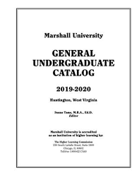 Ucs Spirit Flex Chart Marshall University Undergraduate Catalog 2019 2020 By