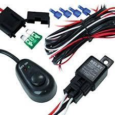 amazon com 1 fog light 40 amp universal wiring harness on the 1 fog light 40 amp universal wiring harness on the market comes w