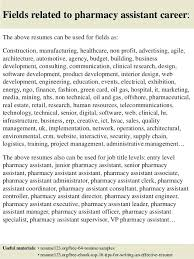 Pharmacy Sample Resume Kliqplan Com