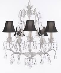 j10 sc white 26016 5 wrought iron chandelier lighting top 53 wonderful black drum shade