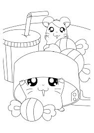 Hamtaro Coloring Pages Coloringpages1001com