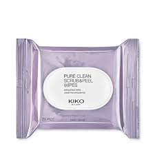 kiko milano makeup remover pure clean scrub and l with two side wipes