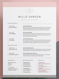 Elegant Cover Letter Template Professional Elegant Resume Cv Template With Matching Cover Letter