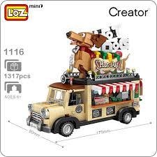 2019 LOZ 1116 <b>Creator Mini</b> Blocks <b>City</b> Series <b>Hot</b> Dog Car Model ...
