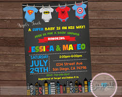 Top 17 Superhero Baby Shower Invitations For Your Inspiration Superhero Baby Shower Invitation