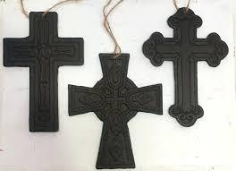 crosses wall art cast iron cross ornaments set of 3 crosses rustic wall art home