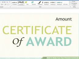 Make Your Own Gift Certificate Free Printable 3 Ways To Make Your Own Printable Certificate Wikihow