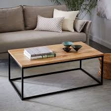 coffee table. Box Frame Coffee Table - Raw Mango L