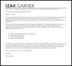 project scheduler resumes project scheduler cover letter sample livecareer