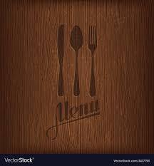 Restaurant Menu Design On Wood Background