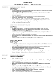 Trainer Resume Sample Production Trainer Resume Samples Velvet Jobs 14