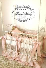 luxury bratt decor venetian crib plus pink ribbon and pillows for nursery ideas