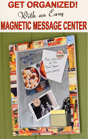 How To Make A Magnetic Memo Board New Easy Magnetic Memo Board Message Center Mod Podge Rocks