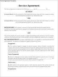 Free Service Contract Template Free Service Agreement Template Australia Contract Of