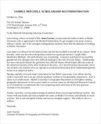 Recommendation Letter For Student Scholarship Pdf Sample Scholarship Recommendation Letter 7 Examples In Word Pdf