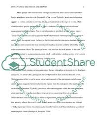 Discovering Statistics Lab Report Essay Example Topics And