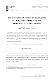 Circular Hollow Section Connection Design Pdf Design Of Hollow Section Overlap Joints With The