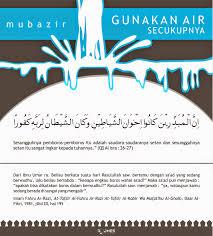 Islamic Motivation Pictorial Mubazir Air Motivasi Islam Bergambar