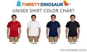 T Shirt Color Chart Congasaurus Dinosaur T Shirt Thirsty Dinosaur