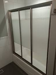bypass shower door. View Larger Image. Triple Track Bypass Sliding Shower Doors Door N