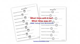 Free Telling Time – Analog Clock Worksheets - Homeschool Den