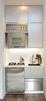 Elegant Chic Compact Kitchen For A Small Space   A Great Idea For A Studio Apartment  By Guida