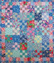 Kaffe Fassett Bold Blooms Tablerunner Kit, 18x66 inches, pattern ... & Floral scrap quilt, nine patch, by peskybombolino. Started in 2001 at a  workshop Adamdwight.com