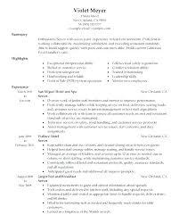 Restaurant Customer Service Resume – Slint.co