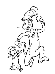 Small Picture Free Printable Cat In The Hat Coloring Pages For Kids Printable