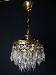 beautiful sparkling vintage style french crystal 3 tier chandelier ceiling light