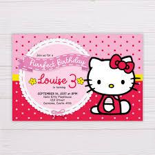 Hello Kitty Invitation Hello Kitty Invitation
