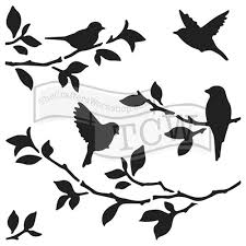 Branch Template The Crafters Workshop 6 X 6 Doodling Templates Birds On Branches