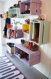 Storage & Organization: Wooden Crates Shoe Store - DIY
