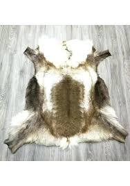 deer skin rug deer rug real reindeer deer hide area rug carpet deer skin rugs for