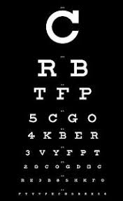 Details About Framed Print Eye Chart Black With White Letters Picture Poster Art Optician