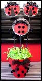 centro d mesa vaquita de san antonio ladybug centerpiecesbirthday party