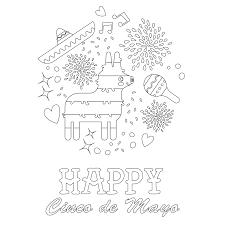 Our cinco de mayo colouring pages help teach about the festival. Cinco De Mayo Printable Pdf Babadoodle