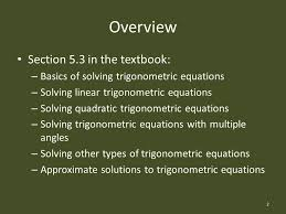 solving trigonometric equations math precalculus s rook ppt