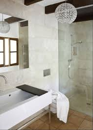 bathroom amusing crystal sphered bathroom chandeliers next to glass shower area with mirror and single